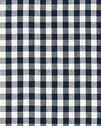 Scalamandre Swedish Linen Check Indigo Fabric