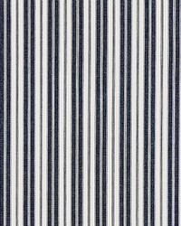 Scalamandre Devon Ticking Stripe Indigo Fabric