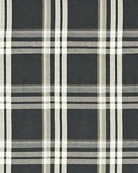 Scalamandre Modo Plaid Ebony Fabric