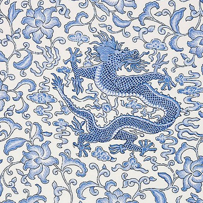 Scalamandre CHIEN DRAGON LINEN PRINT HYACINTH BLUE Search Results