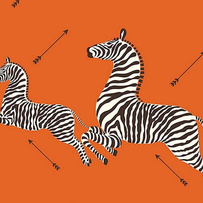 Scalamandre Wallcoverings ZEBRAS ORANGE Search Results
