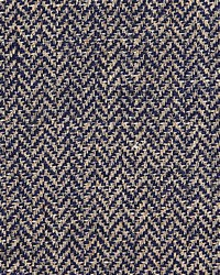 Scalamandre Oxford Herringbone Weave Indigo Fabric