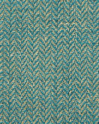 Scalamandre Oxford Herringbone Weave Turquoise Fabric