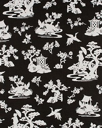 Old World Weavers Lily Pond Coal Fabric