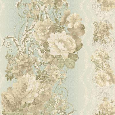 York Wallcovering FLORAL STRIPE                  1 Seafoam/Cream Search Results