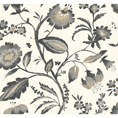 York Wallcovering WATERCOLOR JACOBEAN            off white, light grey, dark grey, taupe, light tan Search Results