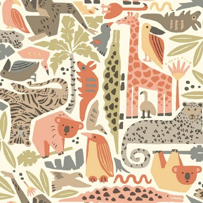 York Wallcovering DwellStudio Baby & Kids Jungle Puzzle                                      Browns /Oranges /Greens   Search Results
