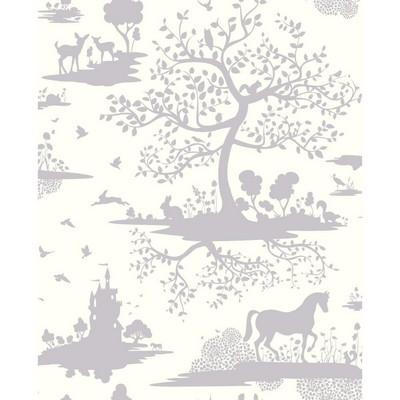 York Wallcovering DwellStudio Baby & Kids Fable                                              Purples /White/Off Whites   Animals