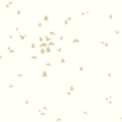 York Wallcovering DwellStudio Baby & Kids Fable Bird                                         Metallics /White/Off Whites   Animals