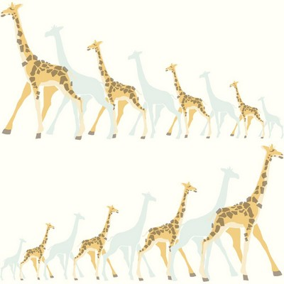 York Wallcovering DwellStudio Baby & Kids Giraffes                                           Blues /Yellows /Browns   Search Results