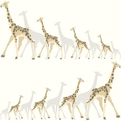 York Wallcovering DwellStudio Baby & Kids Giraffes                                           Browns /Blacks /Beiges   Animals
