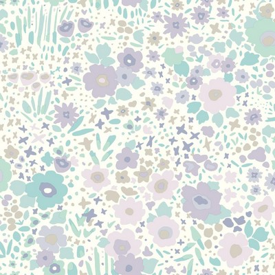 York Wallcovering DwellStudio Baby & Kids Posey Sidewall                                     Purples /Blues /Browns   Dwell Studio Baby and Kids
