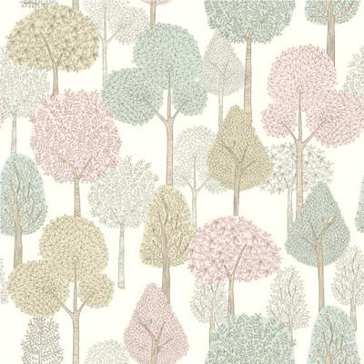 York Wallcovering DwellStudio Baby & Kids Treetops                                           Pinks /Greens   Dwell Studio Baby and Kids