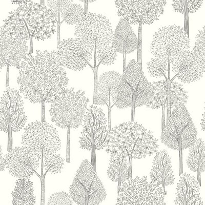 York Wallcovering DwellStudio Baby & Kids Treetops                                           Blacks /White/Off Whites   Dwell Studio Baby and Kids