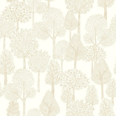 York Wallcovering DwellStudio Baby & Kids Treetops                                           Metallics /White/Off Whites   Dwell Studio Baby and Kids