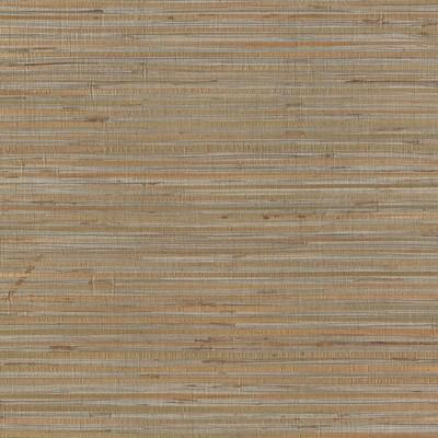 York Wallcovering Bamboo Wallpaper metallic silver, tan Designer Resource Grasscloth