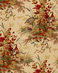Schumacher Fabric Quail Meadow Autumn Fabric