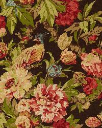 Schumacher Fabric Ashbourne Peony Chestnut Fabric