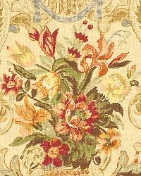 Schumacher Fabric Aylesbury Vase Spice Fabric