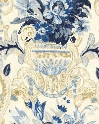 Schumacher Fabric Aylesbury Vase Delft Fabric