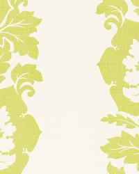 Schumacher Fabric Margate Damask Print Apple Fabric
