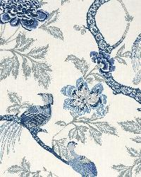 Schumacher Fabric Arbre Chinois Porcelain Fabric