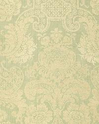 Schumacher Fabric Padova Damask Print Sea Glass Fabric