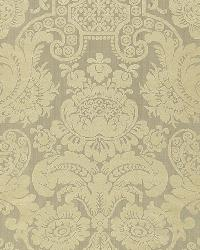 Schumacher Fabric Padova Damask Print Mercury Fabric