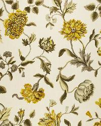 Schumacher Fabric Avebury Floral Vine Citrine Fabric