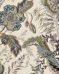 Schumacher Fabric Sandoway Vine Seaglass Fabric