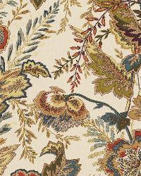 Schumacher Fabric Sandoway Vine Spice Fabric