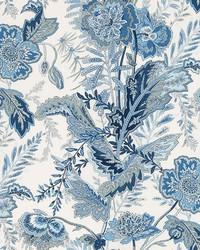 Schumacher Fabric Sandoway Vine Delft Fabric