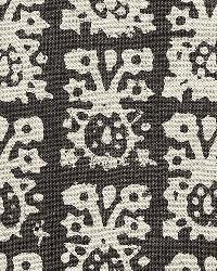 Schumacher Fabric Jakarta Linen Print Graphite Fabric