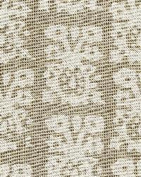 Schumacher Fabric Jakarta Linen Print Greige Fabric