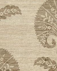 Schumacher Fabric Ottoman Flower Putty Fabric