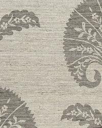 Schumacher Fabric Ottoman Flower Moonstone Fabric