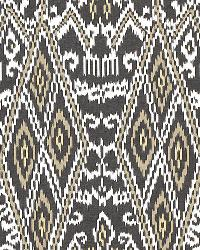Schumacher Fabric Maya Ikat Print Ash Fabric