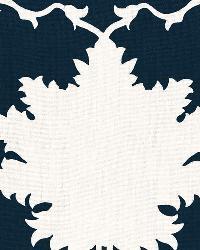 Schumacher Fabric Garden Of Persia Bleu Marine Fabric
