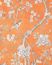 Schumacher Fabric Chinois Palais Tangerine Fabric