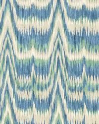 Schumacher Fabric Kamalia Ikat Print Aegean Fabric