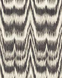 Schumacher Fabric Kamalia Ikat Print Smoke Fabric