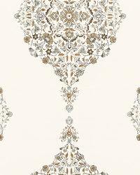 Schumacher Fabric Mehndi Linen Print Flax Fabric