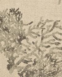 Schumacher Fabric Great Barrier Reef Charcoal Fabric
