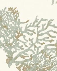 Schumacher Fabric Great Barrier Reef Moonstone Fabric