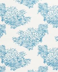 Schumacher Fabric Great Barrier Reef Blue Fabric