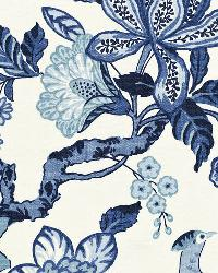 Schumacher Fabric Huntington Gardens  Blue Marine Fabric