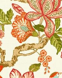 Schumacher Fabric Huntington Gardens Coral Fabric