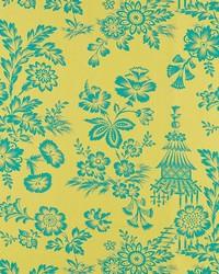 Schumacher Fabric Song Garden Chartreuse Fabric