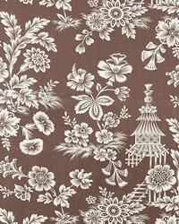 Schumacher Fabric Song Garden Cocoa Fabric