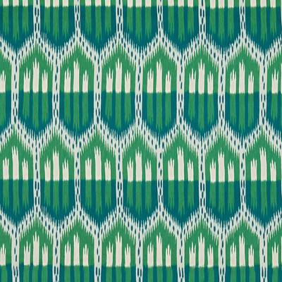 Schumacher Fabric BUKHARA IKAT EMERALD & PEACOCK Search Results